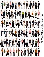 Business Women - A group of vector business women.