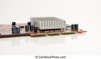 Computer graphic card isolated over white