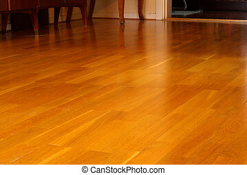 Floor - Parquet floor in a home