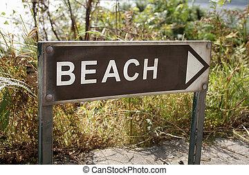 Beach this way