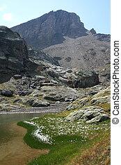 Nameless mountainlake - A nameless small mountainlake in...