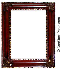 Cherry and Gold Frame - an ornate gold and cherry picture...