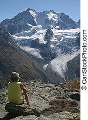 "Piz Bernina, Piz Scerscen - View from \""Foucla Surlj\\\""..."