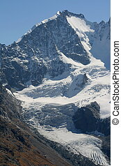"Piz Bernina - View from \""Fourcla Surlej\\\"" to the..."