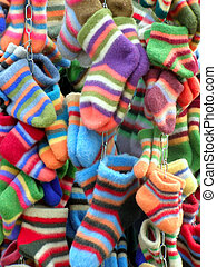 colored socks - a lot of colored socks