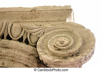 Ionic Column - Detail of Stone Ionic Capital and Column...