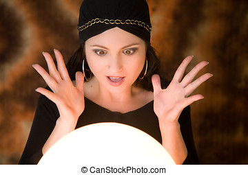 What am I seeing - Fortune teller looking very surprised at...