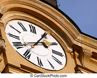 church-clock - This clock is on a church in Szekesfehervar...