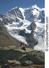 """Piz Bernina, Piz Scerscen - View from \\\""""Fourcla Surlej\\\""""..."""