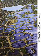 Aerial photo backgrounds - Aerial photos of arctic tundra...
