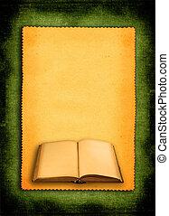 book against retro background #2