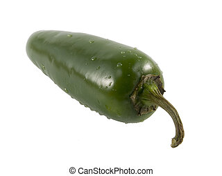 jalapeno pepper - a close-up on a jalapeno pepper