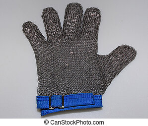 mesh glove used to protect hand for meat cutters