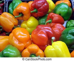 Colorful Bell Peppers - Different colored bell peppers...