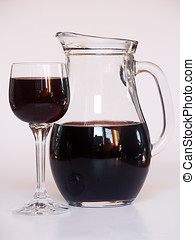 wineglass and carafe - drink