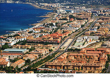 Urbanization of coastal city, Spain