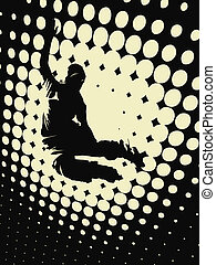 rollerblade - sport concept with abstract background with...