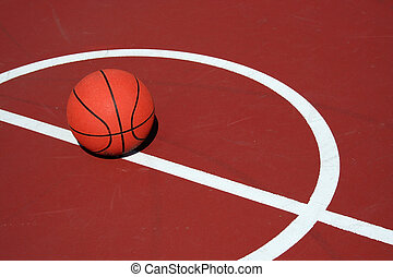 Basketball at center court