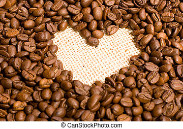 coffee love - coffee-beans in the shape of heart