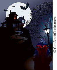 Halloween house, perfect illustration for Halloween holiday