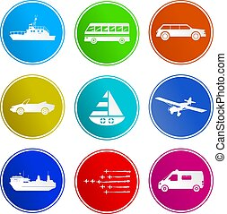 transport sign icons - collection of transport sign icons...