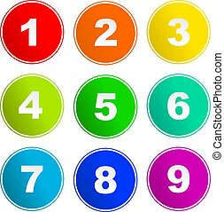 number sign icons - collection of number sign icons isolated...