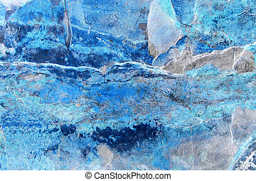 Ice Cool - Abstract of a slab of slate with ice blue hues