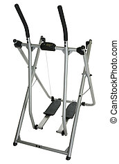 Home Exercise Equipment - Home exercise equipment over white...
