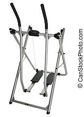 Home Exercise Equipment - Home exercise equipment over white...