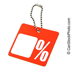Sale tag with percent symbol - Sale tag with copy space and...