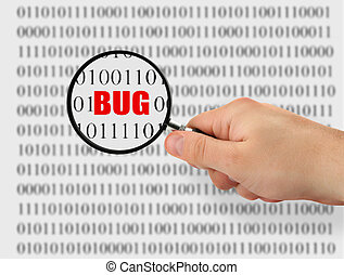 searching for bug - concept of searching for a bug, binary...