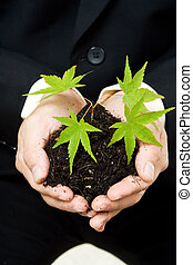 Business concept - A conceptual shot of a businessman...