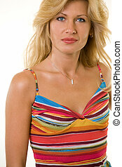 Pretty blond woman - Attractive portrait of a woman with...