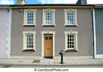 Row house in Wales - Colorful row house in Wales
