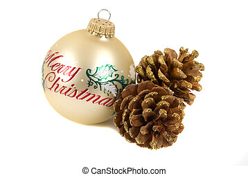 Christmas Ornament - Christmas ornament and pine cones