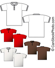 Polo T-shirt layout back and front - Polo T-shirt back and...