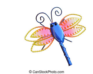 rainbow dragonfly - A colourful dragonfly design made of...