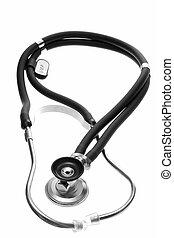 Black Sthetoscope - A black Sthetoscope. Isolated on white...