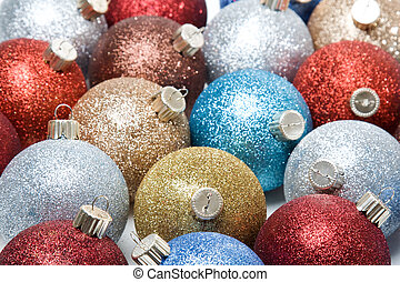 Christmas ornaments - A shot of various and colorful...