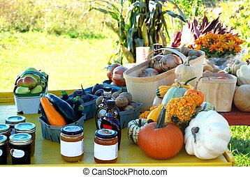 Roadside Stand - roadside stand with vegetables and...