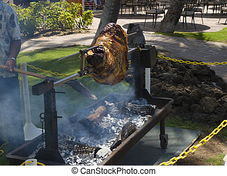 Grill the Meal - Charcoal Grill Smoking Meat for Tasty...
