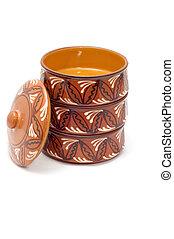 bakeware - series object on white kitchen utensil ceramics...