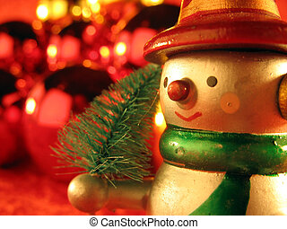 Snow man 2 - Snow man with a little christmas tree