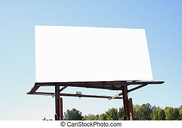 Blank billboard - A Blank billboard on the side of the road