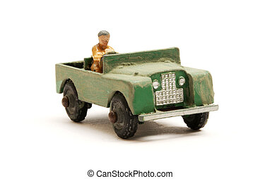 Landrover Jeep toy scale model - Retro green classic...