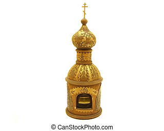 Isolated wooden chirch - An isolated rhoto of a wooden...