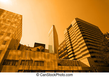 Hot day - Inner city architecture