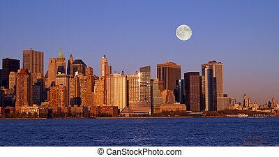 Th New York City Skyline - The New York City skyline from...