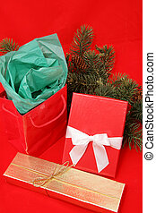 Christmas Gifts on Red
