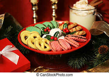 Christmas Treats - A plate of beautiful Christmas cookies...